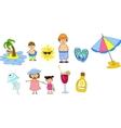 Summer Beach Icon Set vector image