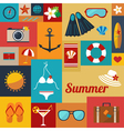 summer flat background vector image vector image