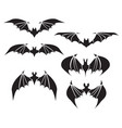 symbol of bat with big wings vector image vector image