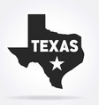 texas state lone star symbol vector image vector image