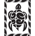 tiki turtle vector image vector image