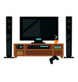 tv set with gamepad vector image vector image