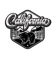 with california calligraphic lettering and bear vector image vector image