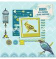 Scrapbook Design Elements - Vintage Birds Set vector image