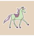 baby horse sticker vector image