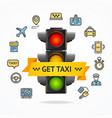 get taxi concept vector image