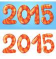 2015 figures winter card vector image vector image