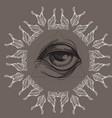 a magical eye in style boho contour vector image vector image