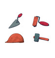 a set of construction tools vector image vector image