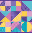 abstract multicolored geometric pattern vector image