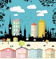 abstract paper cut flat design city