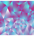 abstract polygonal square background holographic vector image vector image