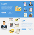 auditing tax process accounting banners vector image vector image