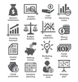 Business economic icons vector image