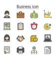 business management icon set filled outline vector image vector image