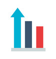 business statistics bar arrow vector image
