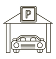 Car parking icon outline style
