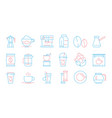 coffee cup icons hot drinks tea and coffee vector image vector image