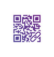 concept of qr scanning with link icon isolated vector image vector image