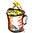 cup sketch vector image