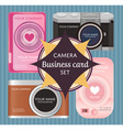 Cute pop up camera photographer business name card vector image