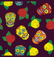 day of the dead seamless pattern handdrawn sugar vector image vector image