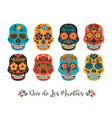 dia de los muertos day of the dead vector image