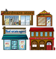 Different establishments vector image vector image
