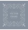 Elegant luxury floral frame vector image vector image