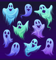 ghost character halloween scary ghostly monster vector image