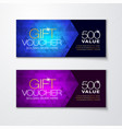 gift voucher with premium diamond pattern vector image