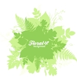 Green isolated foliage silhouettes trendy banner vector image vector image