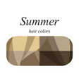 hair colors for summer type vector image vector image