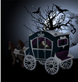 Halloween Carriage background vector image vector image