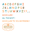 hand drawn letters and wishes of luck vector image