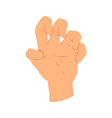 hands gesture communication language or vector image