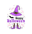 happy halloween greeting card doodle hand drawn vector image