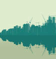 landscape of a very large city vector image vector image