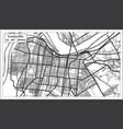 louisville kentucky usa city map in retro style vector image