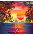Marine sunset landscape vector image
