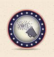 megaphone inside button of vote concept vector image vector image