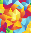 modern retro pattern geometric shapes colorful vector image