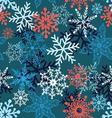 Multi-colored snowflakes form a beautiful pattern vector image vector image
