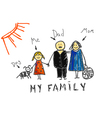 My family vector image vector image