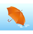 Orange umbrella vector image