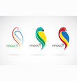 parrot design on white background bird icon vector image vector image