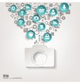Photocamera icon Flat abstract background with vector image vector image