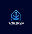 plane house template vector image