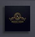premium letter k brand logo concept design vector image vector image