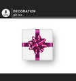realistic gifts box vector image vector image